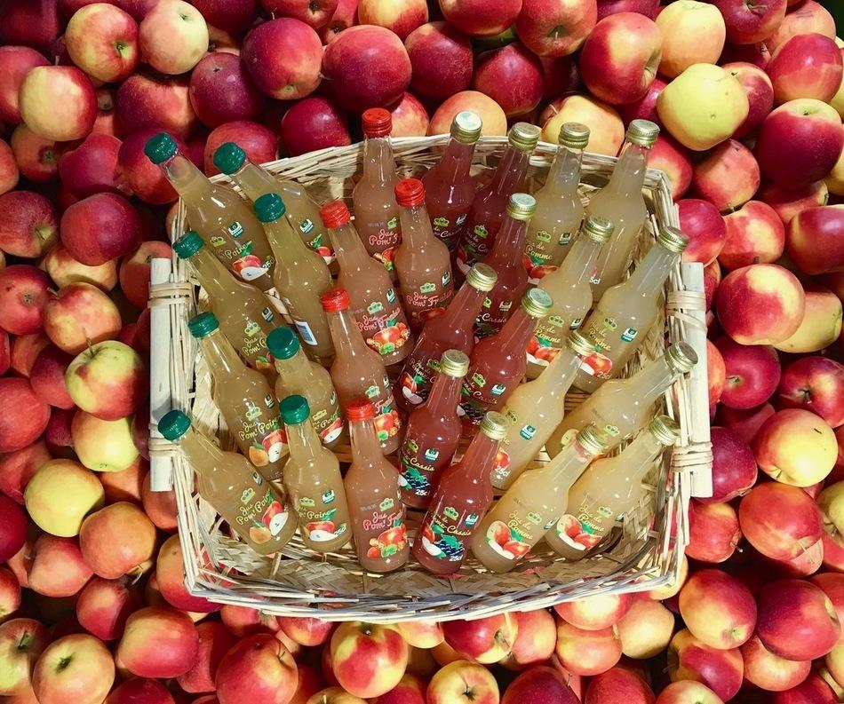 Jus de pomme et cassis artisanal